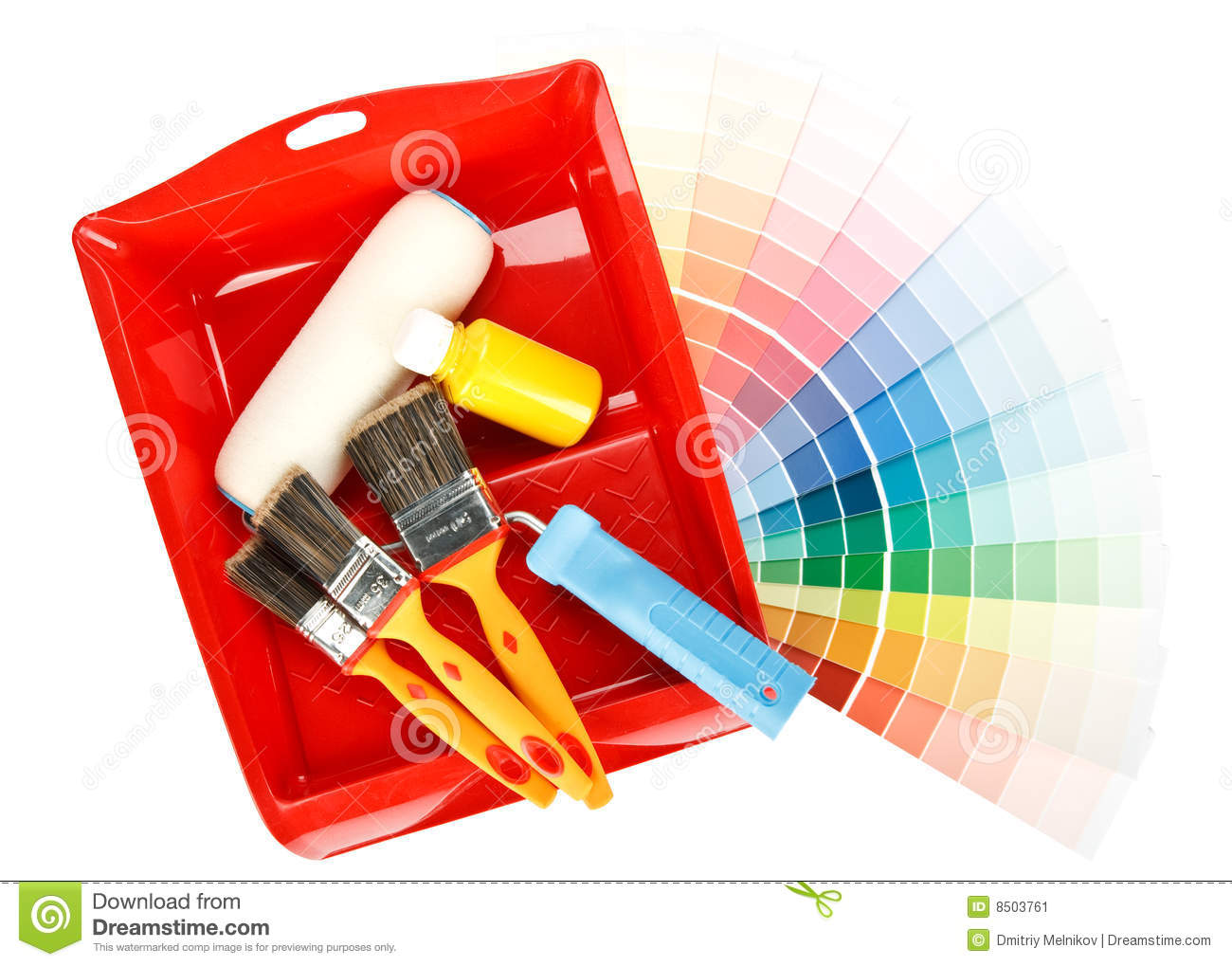 Painting tools and color guide stock image image 8503761 - Painting tool avis ...