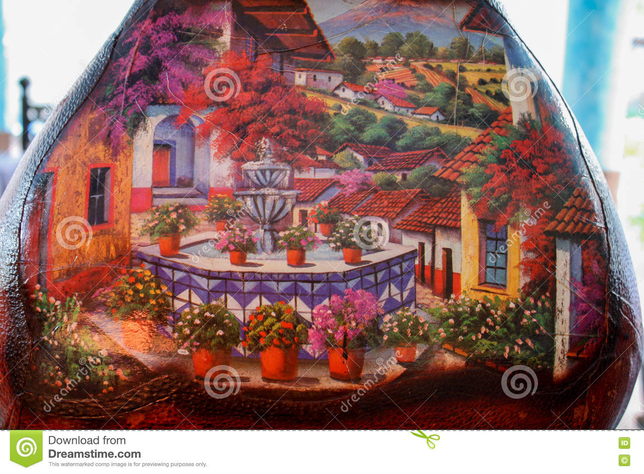 Painting on vase stock image image of interior fixture 71687205 painting on vase reviewsmspy