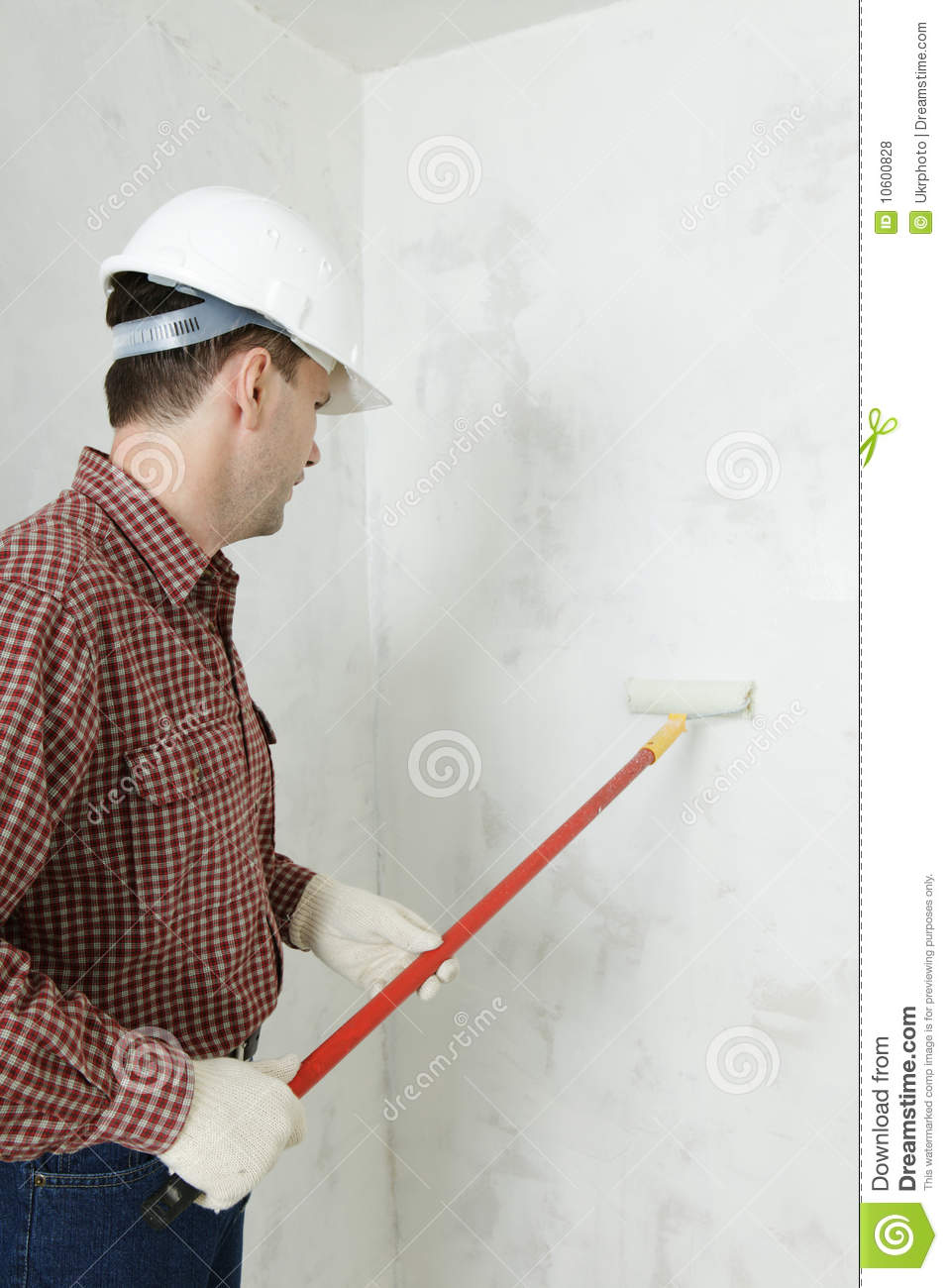 Royalty Free Stock Photos  Painting the wallWorker Painting Wall