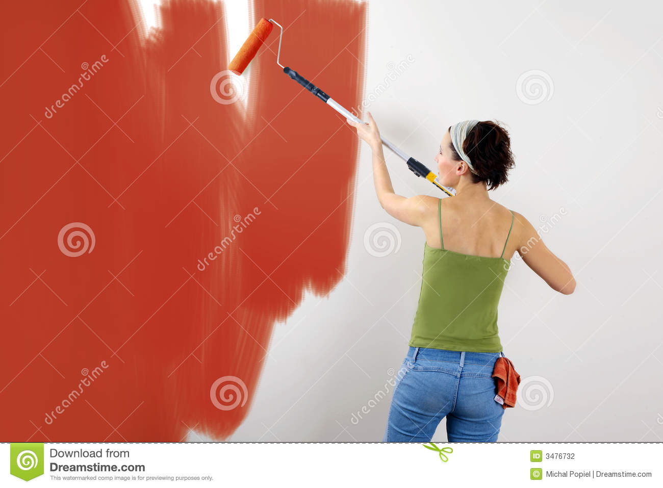 Painting the wall stock photography image 3476732 Paint of wall