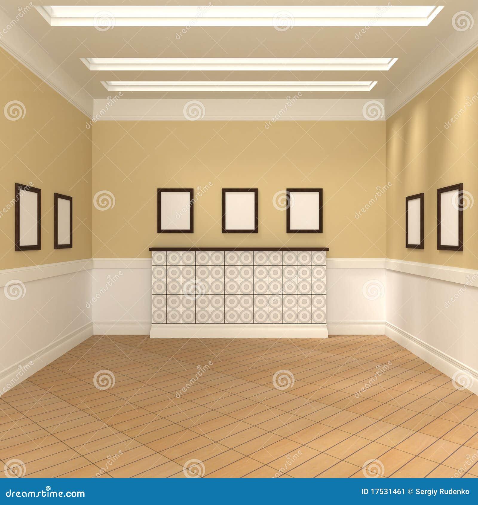 Paintings Inside Room Stock Image Image 17531461