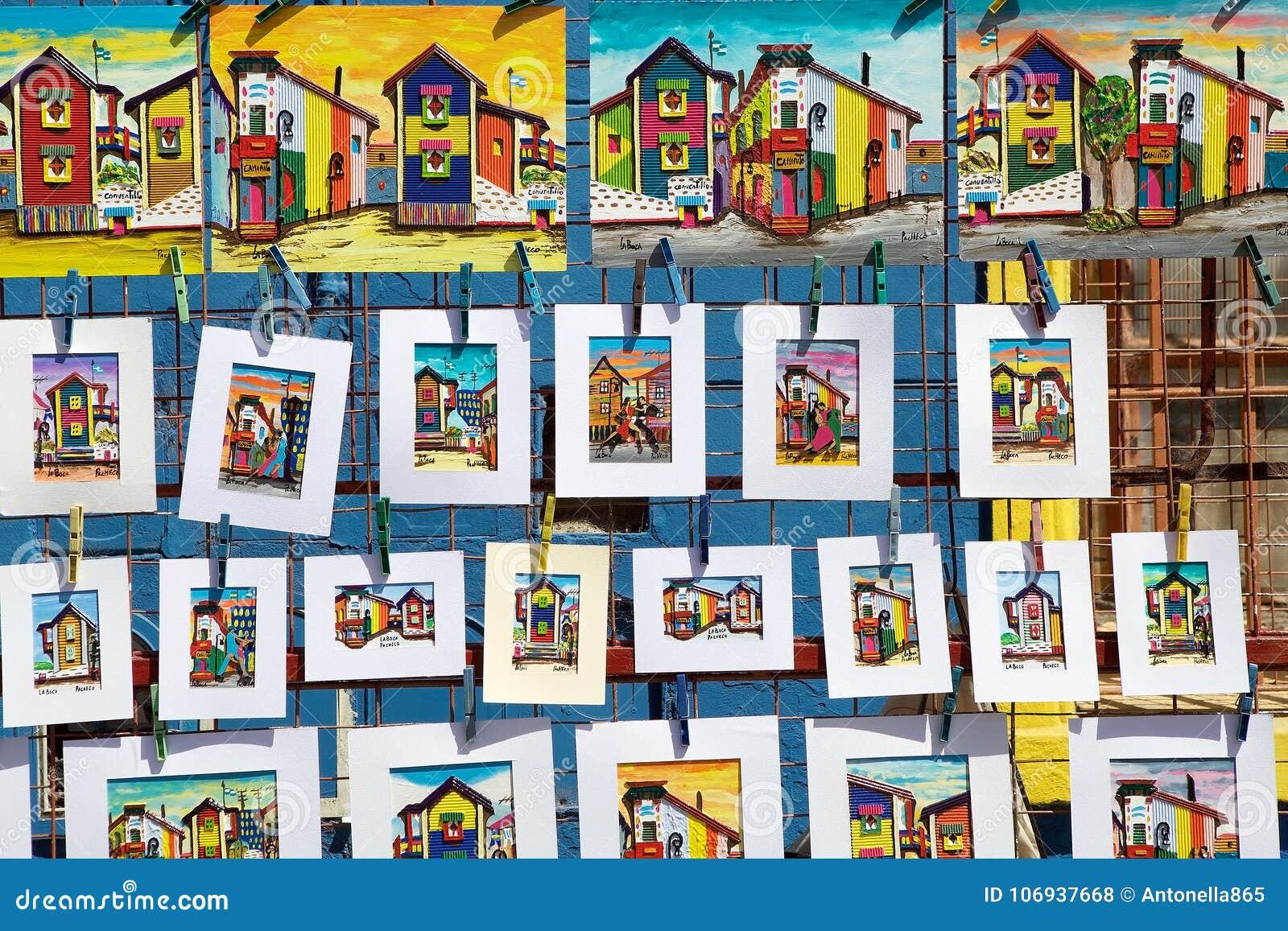 Paintings at La Boca, Buenos Aires, Argentina