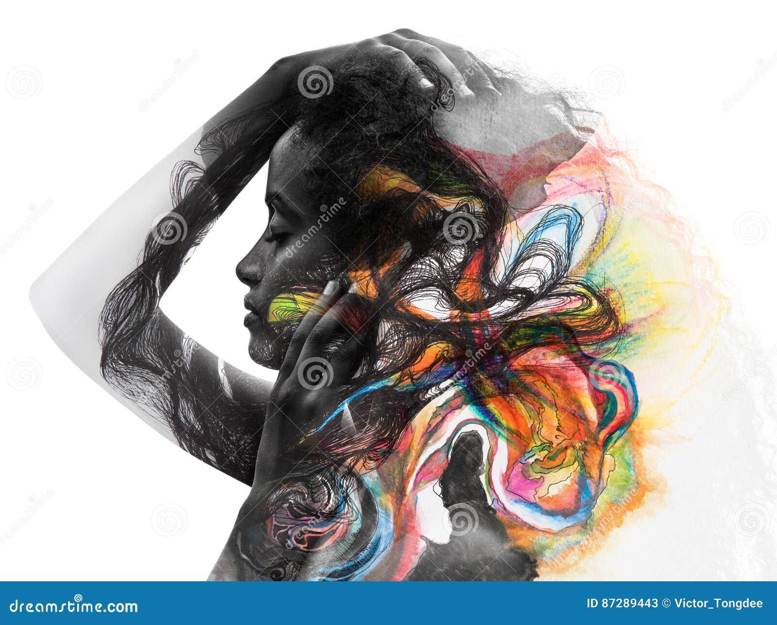 Paintography, foto met art. wordt gecombineerd dat