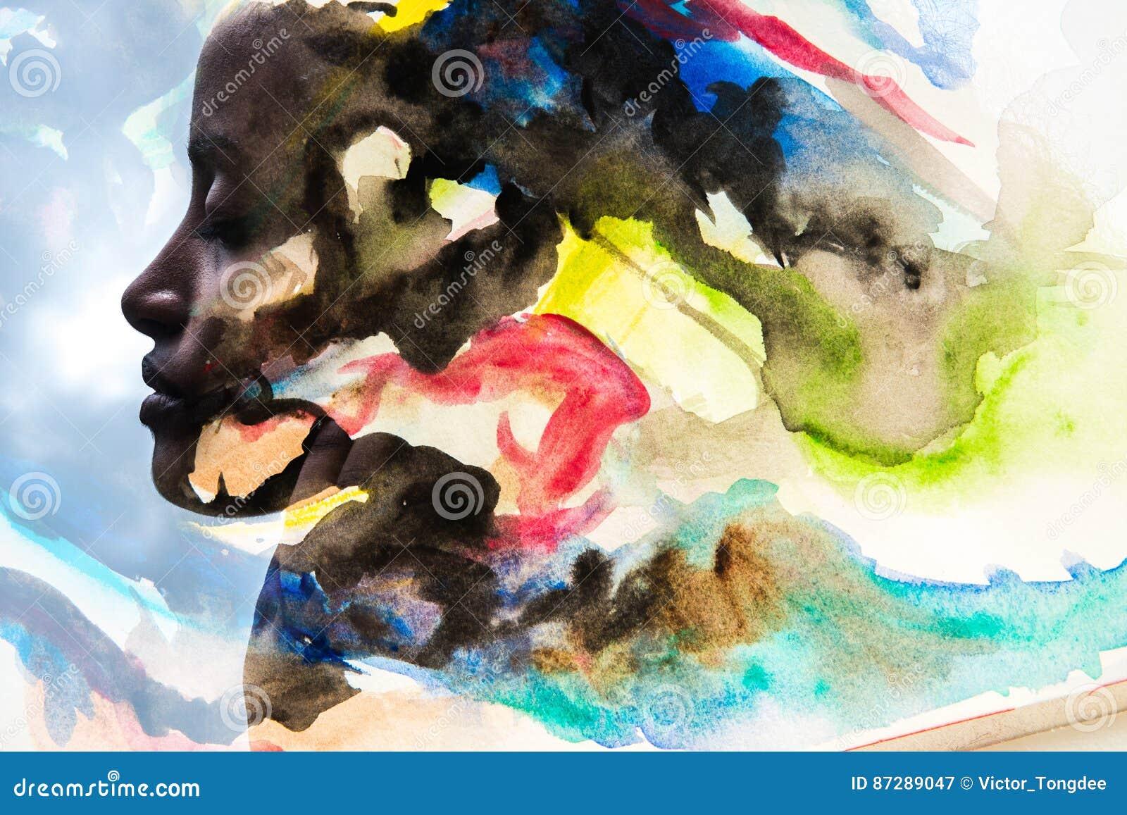 Paintography, Foto met watercolour het schilderen wordt gecombineerd die
