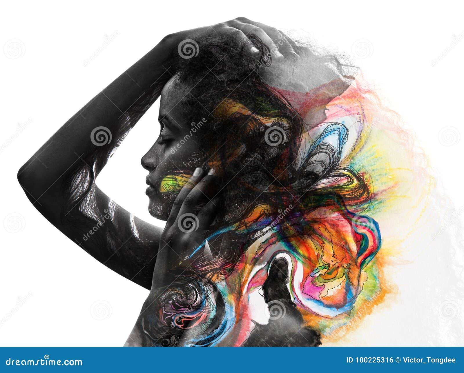 Paintography, photographie combinée avec l art