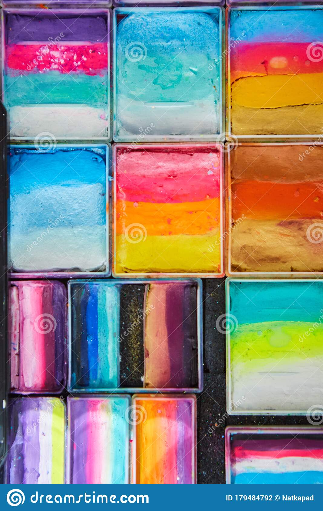 Paints For Body Art And Drawing On The Skin Stock Photo Image Of Painting White 179484792