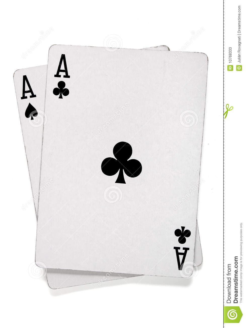 Pair Of Aces With Poker Cards Stock Image - Image of games