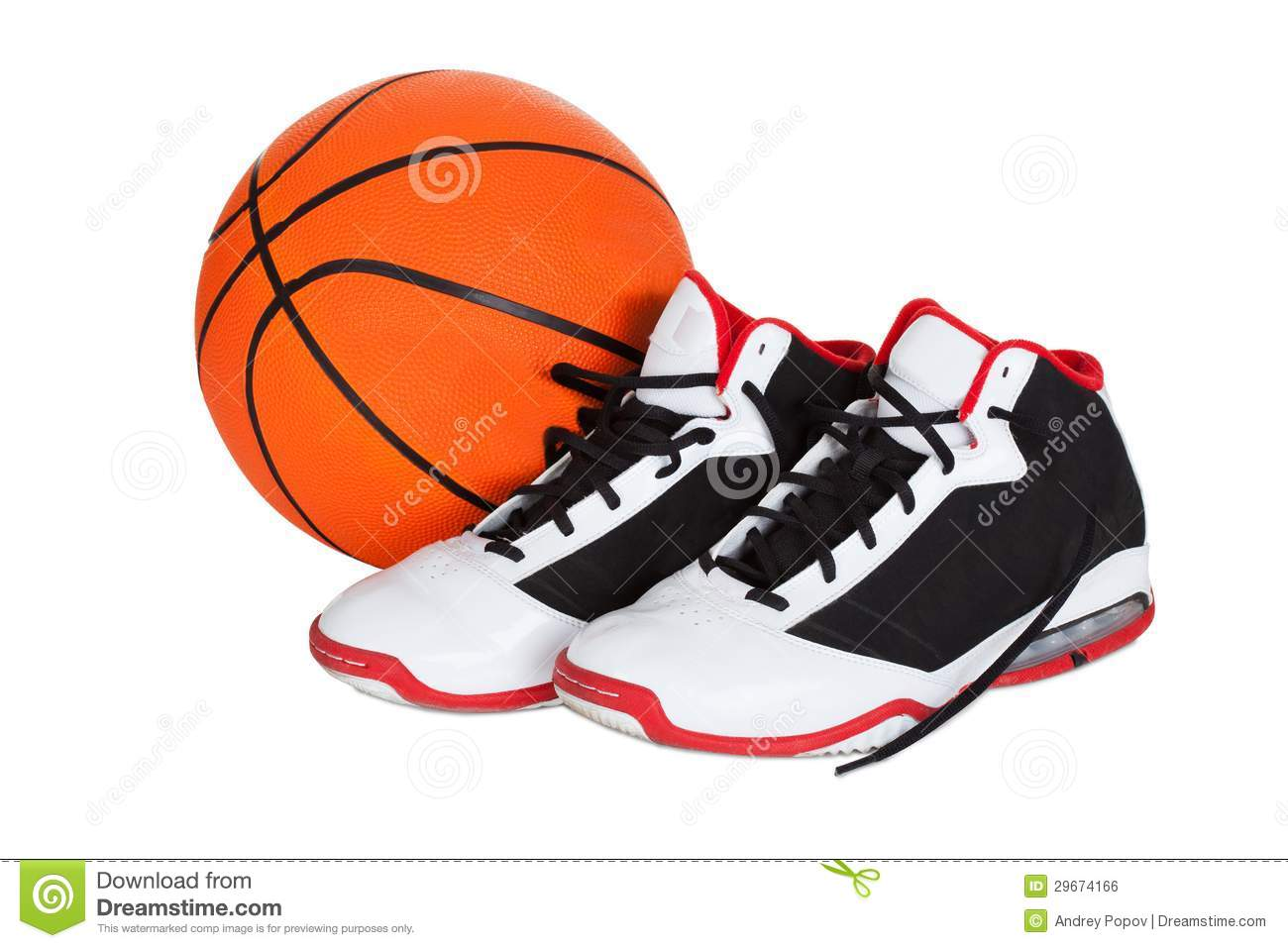 d2081882 Pair of basketball shoes stock photo. Image of professional - 29674166