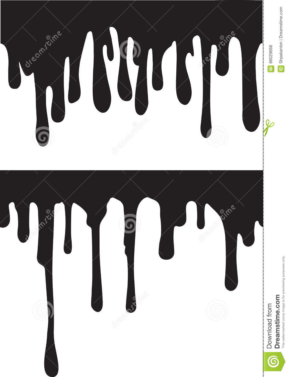 pair of black paint drips vector illustration for your design rh dreamstime com vector spray paint drips vector paint drips