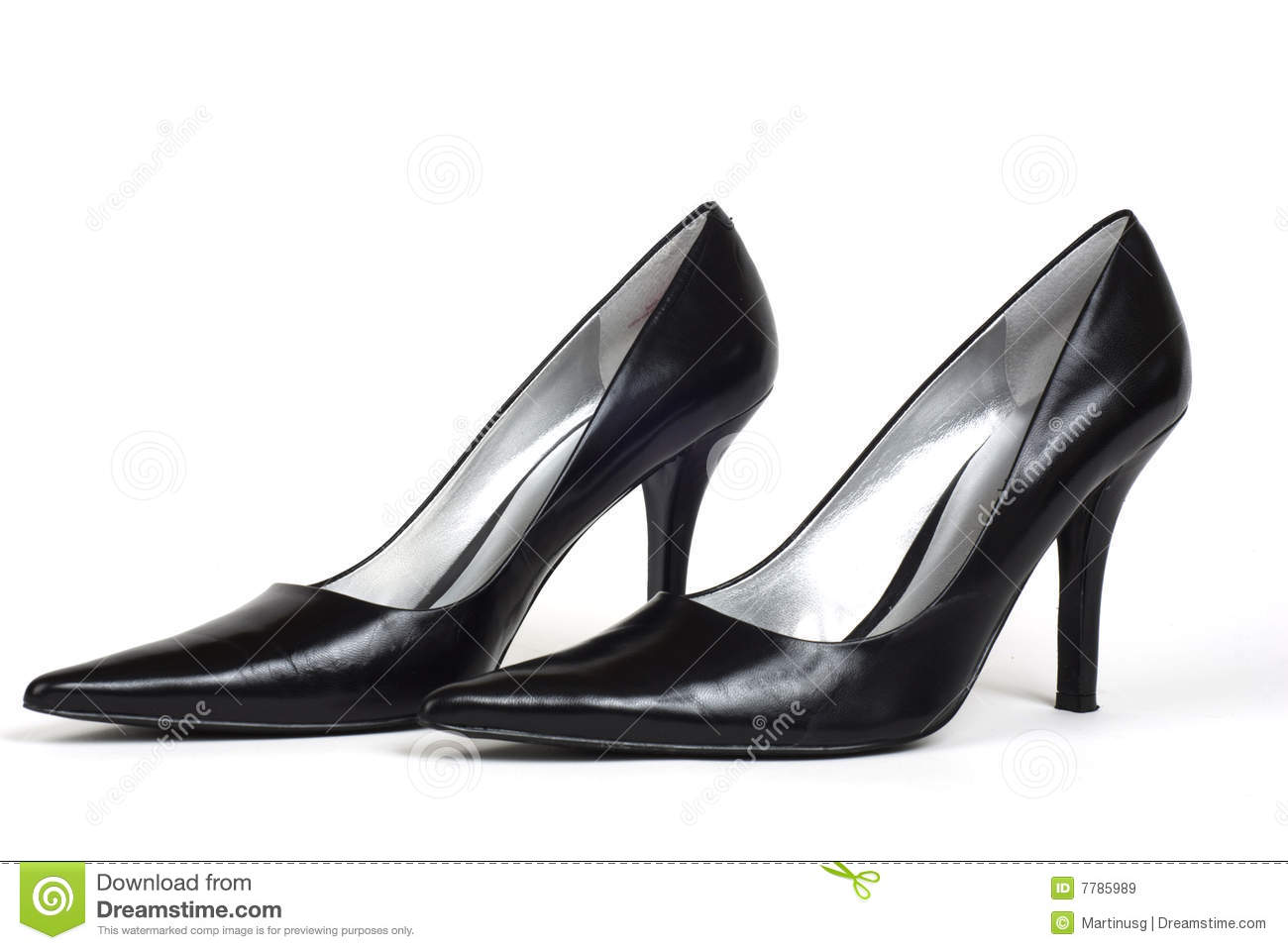 Pair Of Black Women&39s High-Heel Shoes Royalty Free Stock Images