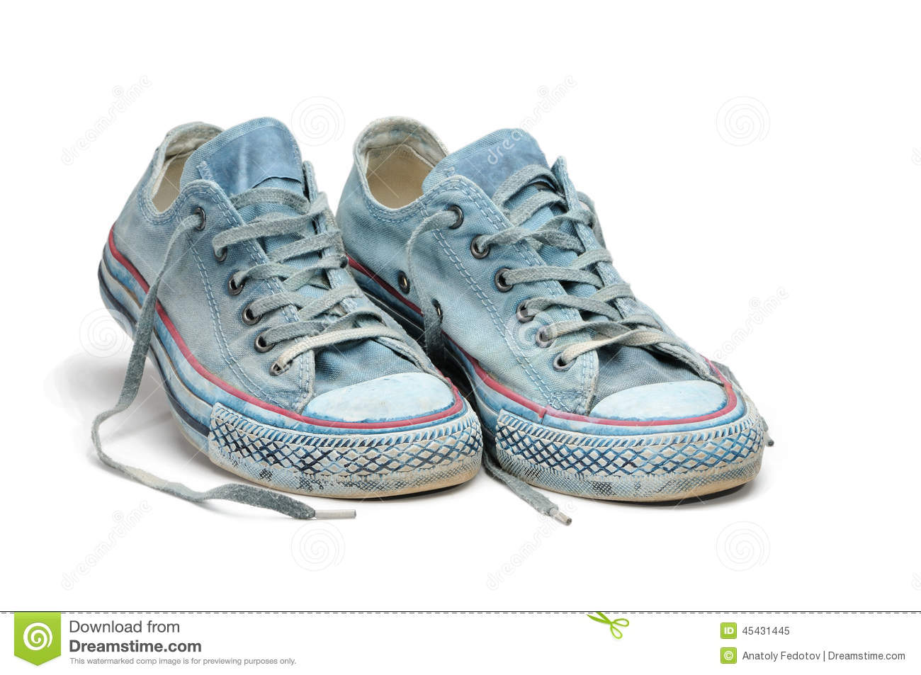 Download Pair Of Blue Sneakers Isolated On White Background Stock Image - Image of footwear, gumshoes: 45431445