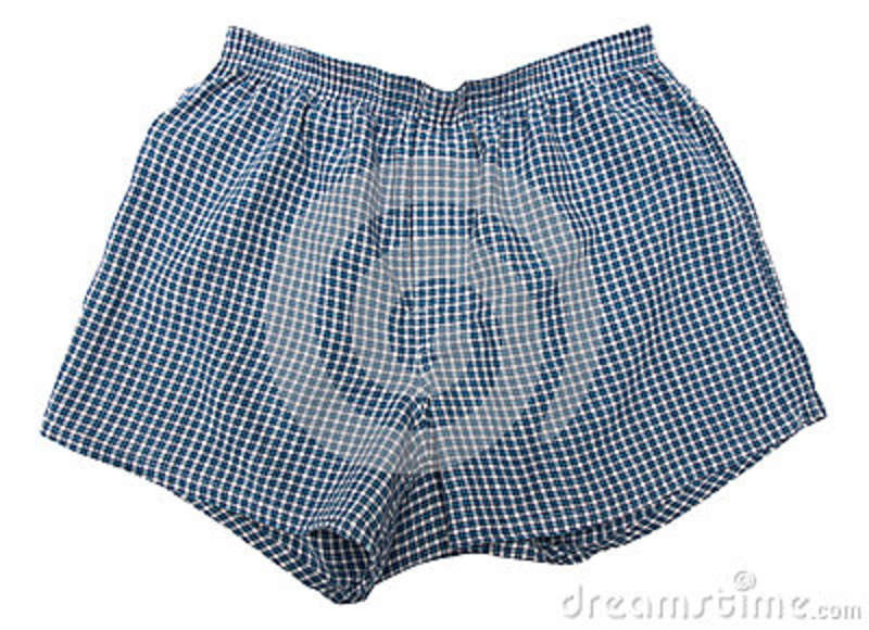 A pair of boxer shorts
