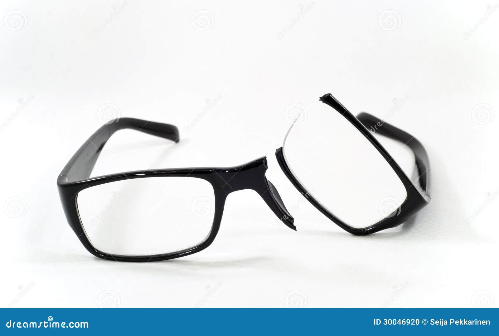 Broken eyeglasses stock photo. Image of glasses, black - 30046920