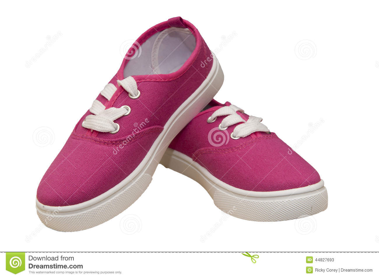 Pair Of Canvas Shoes Stock Photo