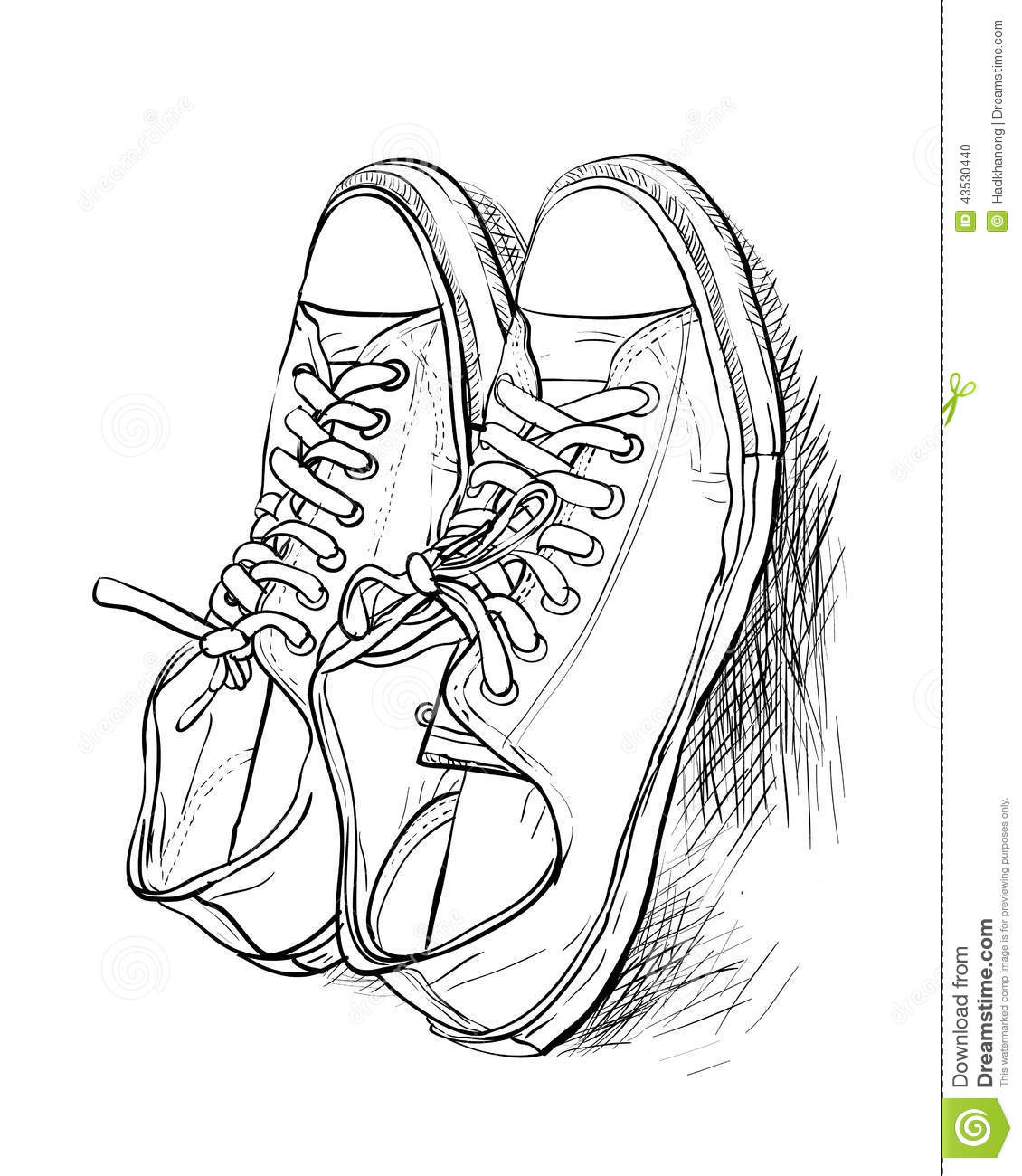 Tennis Shoe Sketch How To Draw