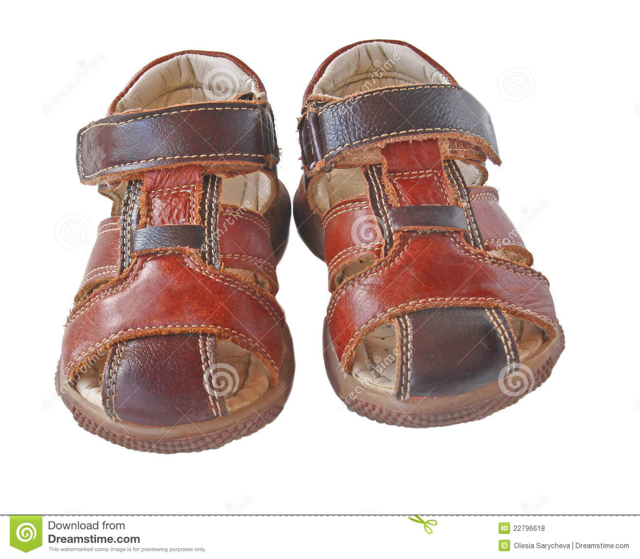 Pair Of Child S Summer Sandals Royalty Free Stock Photos