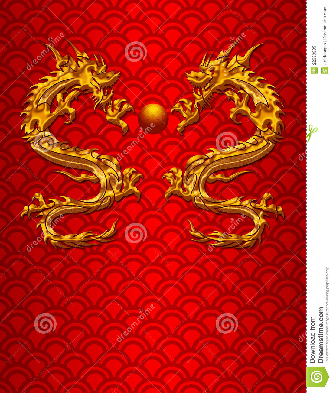 Pair of chinese dragons on scale background stock - Images de dragons ...