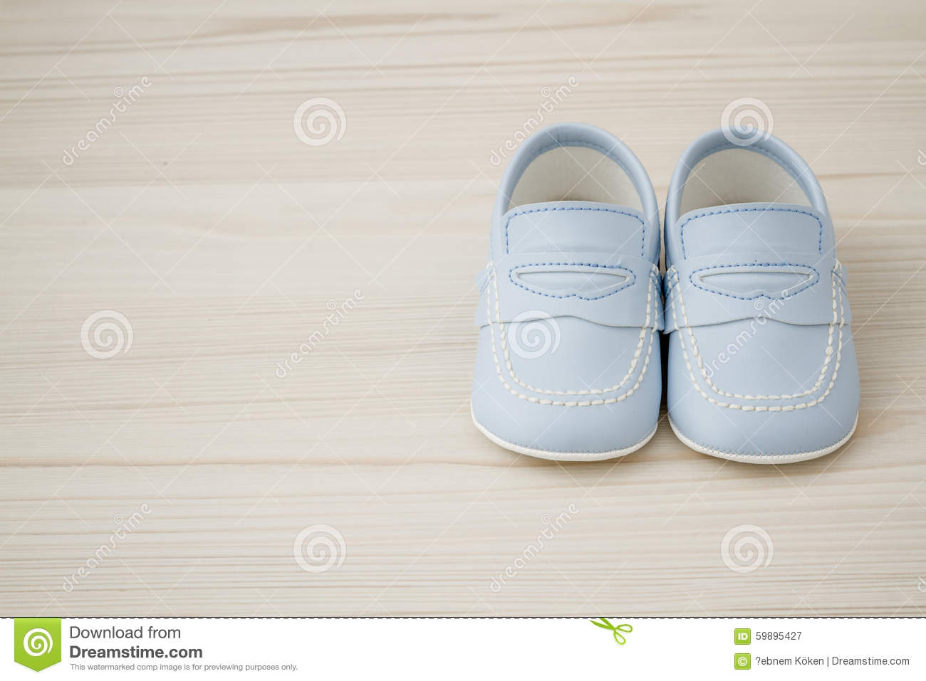 Pair Of Classic Blue Baby Shoes Stock Image Image Of Booties Care