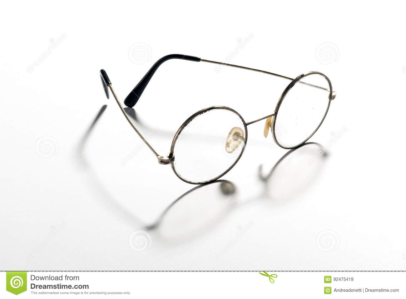 36d6c5aab038 Pair Of Classic Round Vintage Eyeglasses Stock Image - Image of wire ...