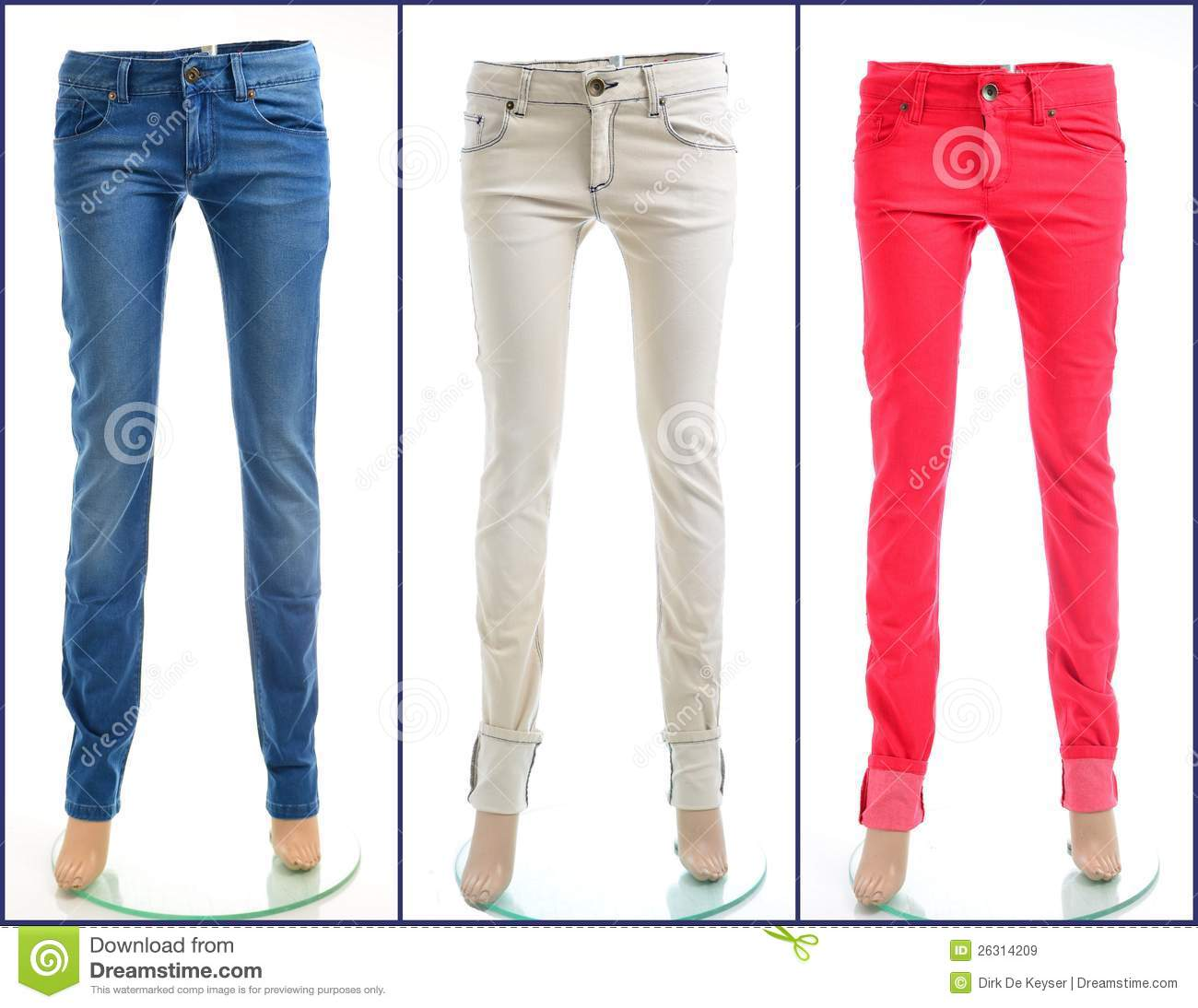 Pair of colored jeans