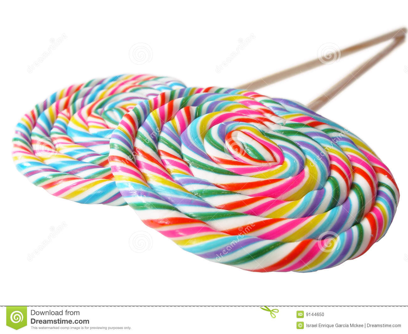 Pair Of Colorful Lollys In Perspective Stock Photo - Image: 9144650