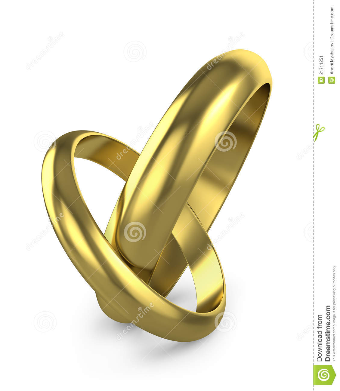 Pair Of Connected Wedding Rings Stock Image