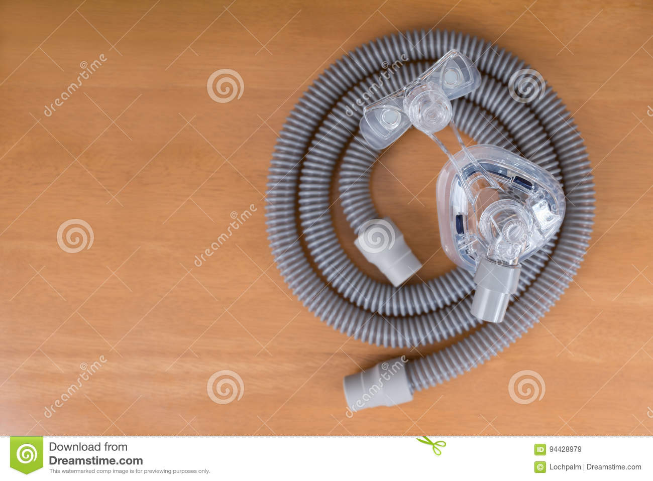 Pair of CPAP mask and tubing.