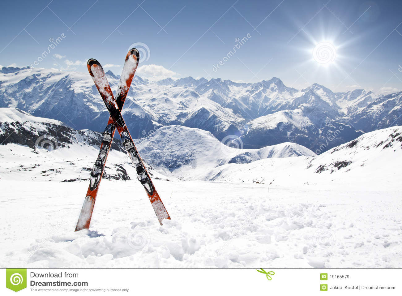 Pair of cross skis stock image image of equipment for Smow gutschein