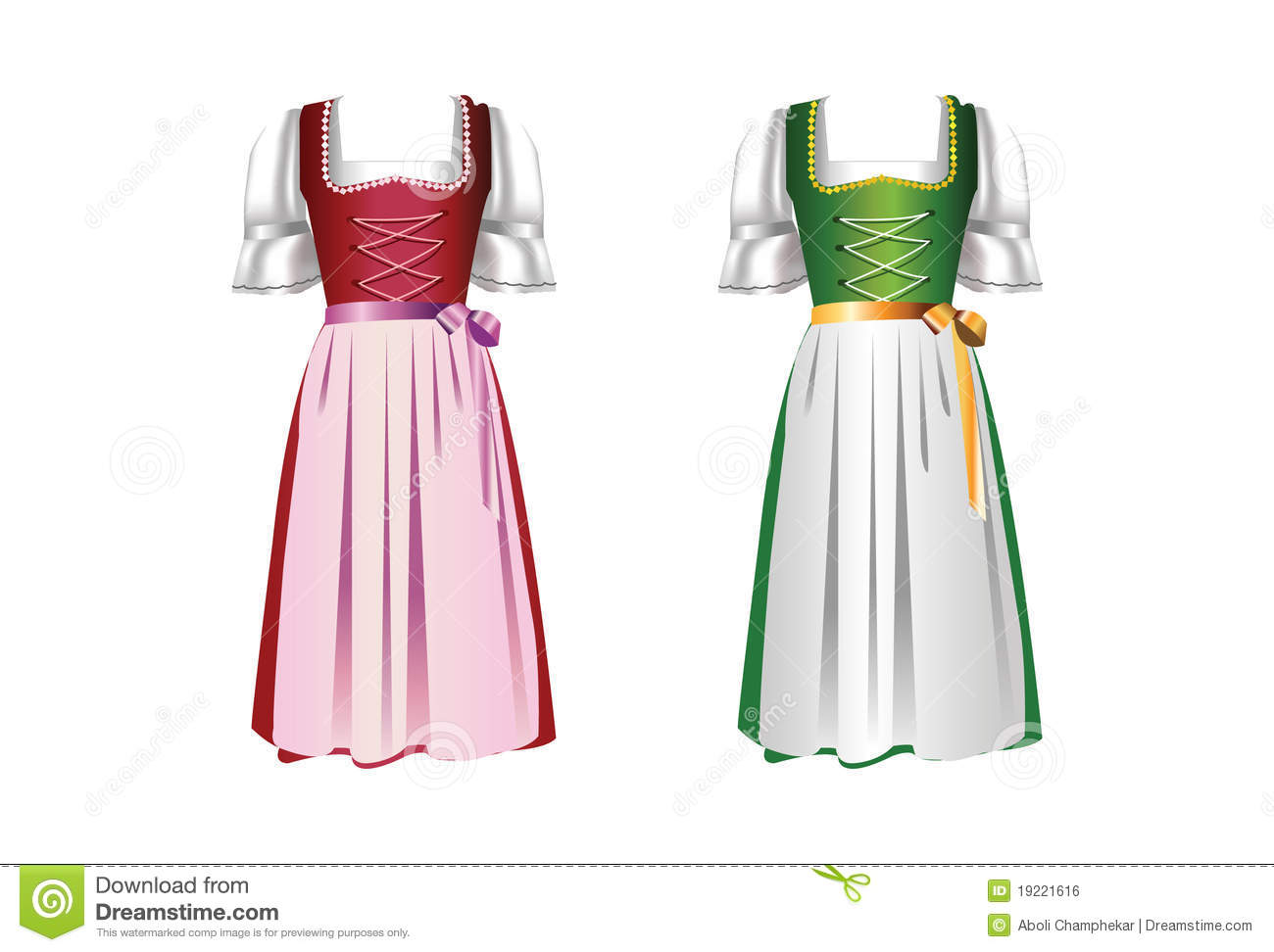 A Pair Of Dirndl Dresses Royalty Free Stock Image Image