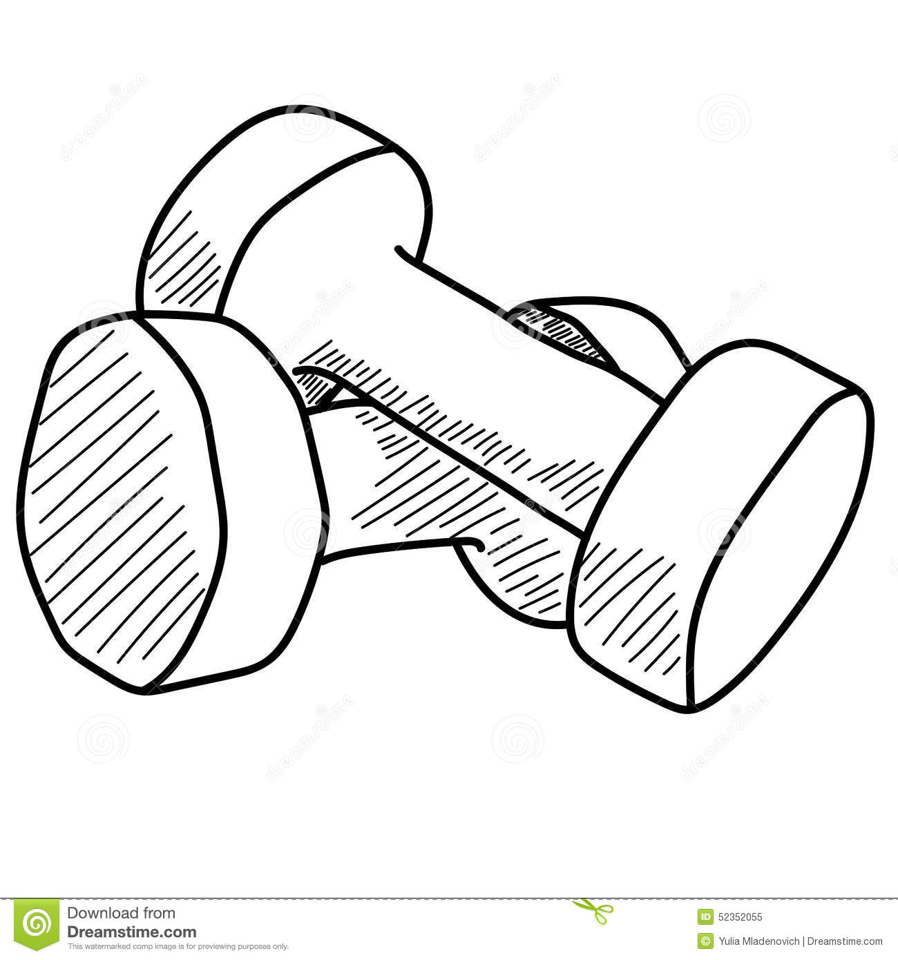 Pair Of Dumbbells Stock Vector - Image: 52352055