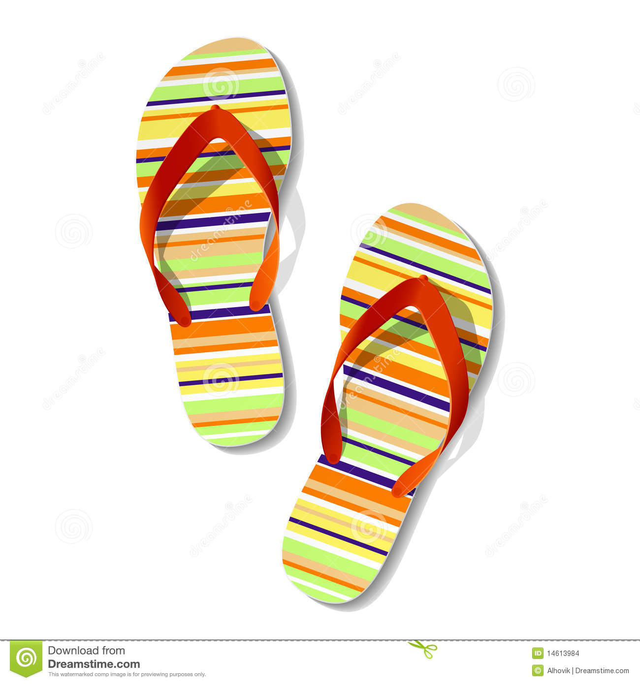 c5a3260430978 Pair of flip flops. Vector illustration of pair of flip flops royalty free  illustration