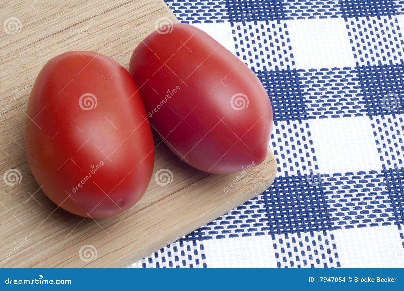 Pair of Fresh Roma Tomatoes