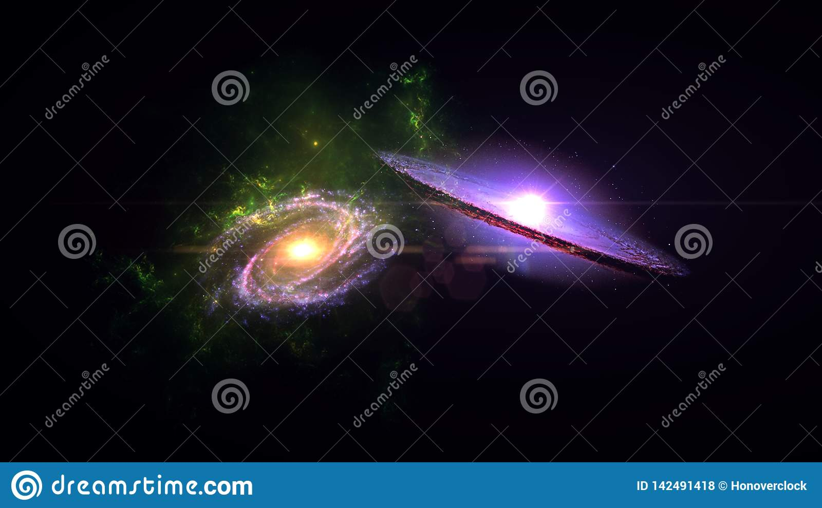 Pair of galaxies