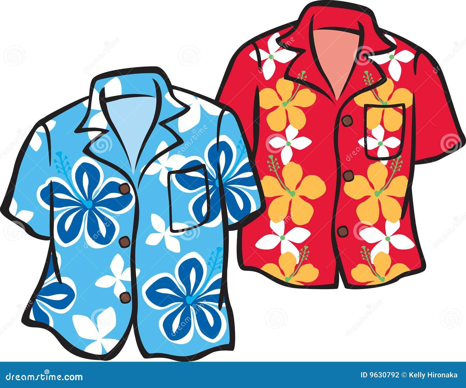 Illustration of a Pair of Aloha Shirts. Shirts are individual and can ...