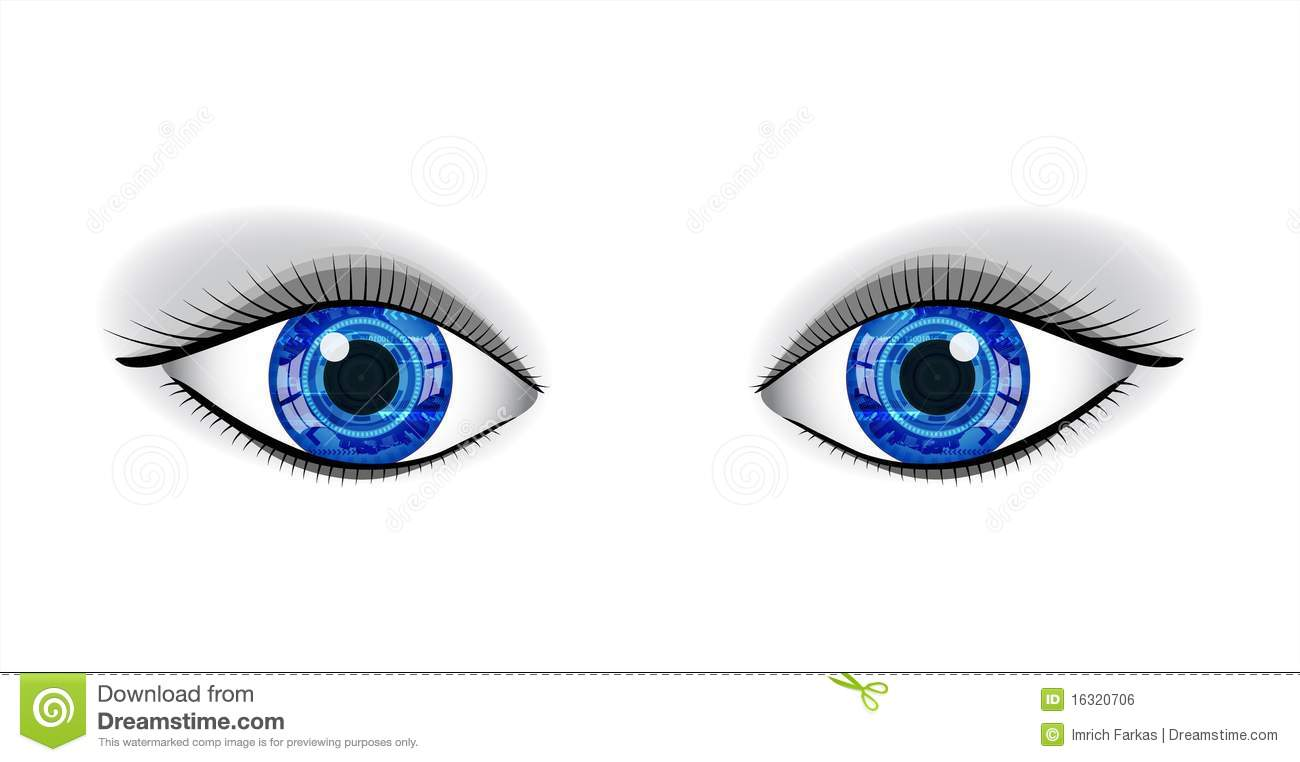 pair of human blue eyes royalty free stock image image