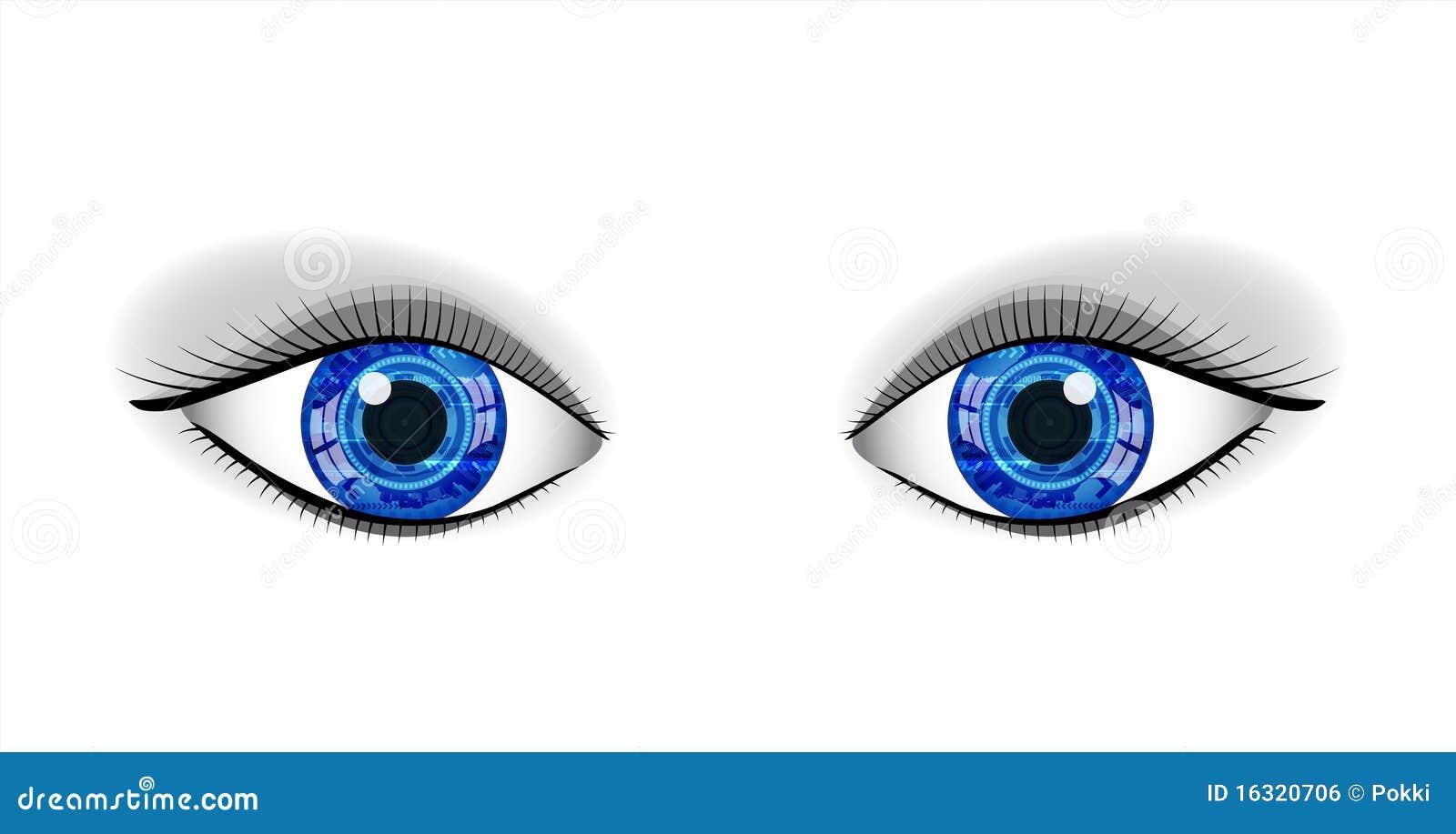 Pair Of Human Blue Eyes Royalty Free Stock Image Image