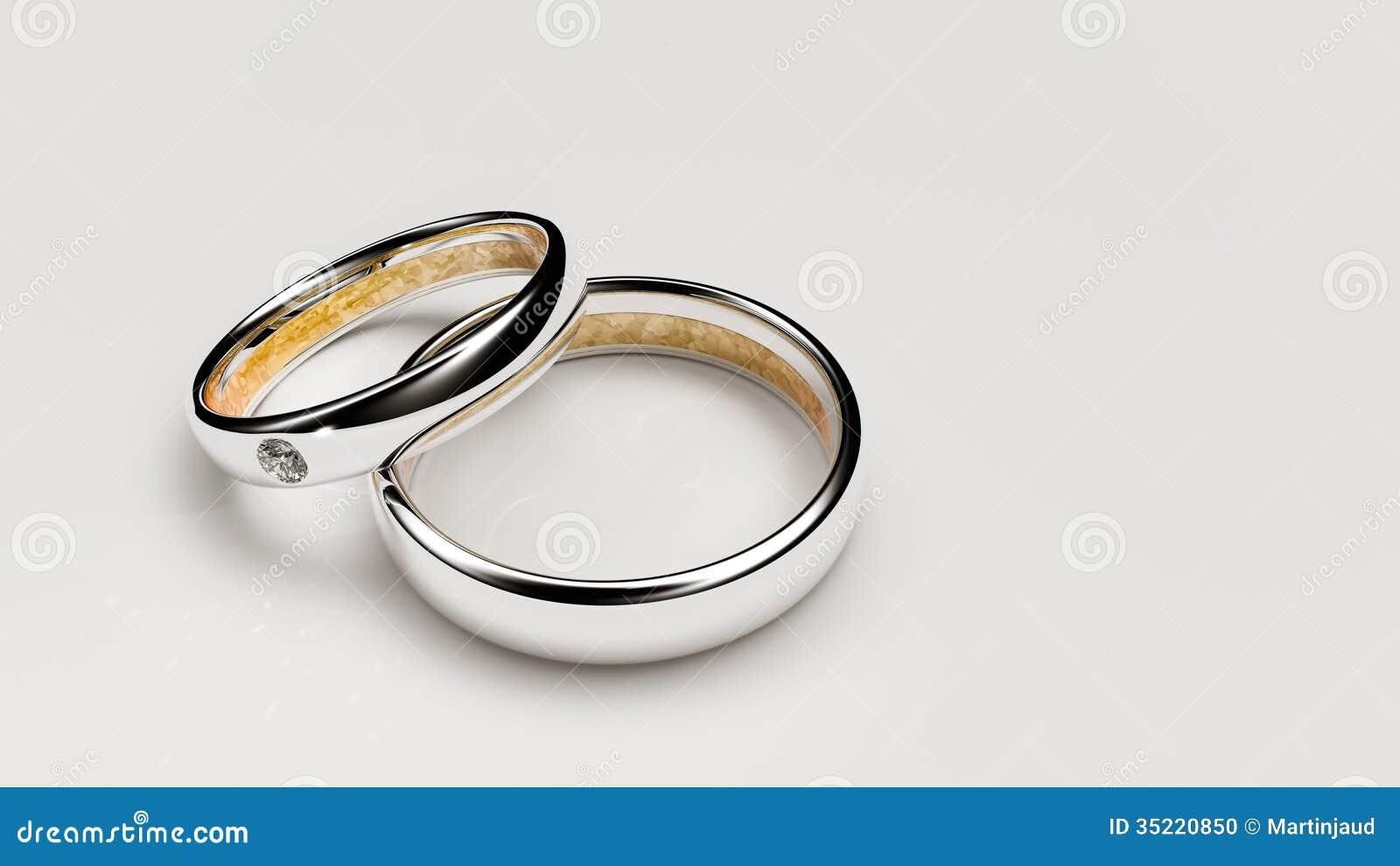 Pair Of Lovers Wedding Rings Stock Photo Image 35220850