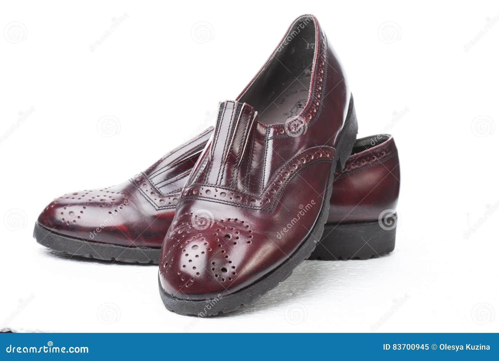 Pair Of Men`s Shoes Stock Photo