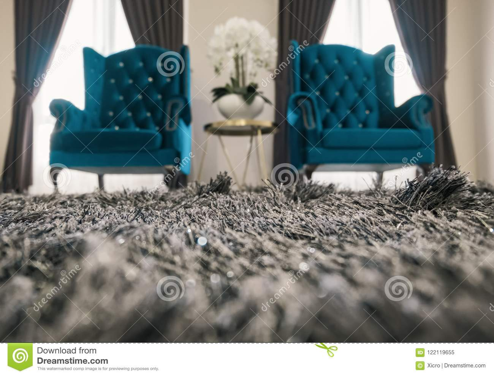 Pair Of Modern Design Sofas In Living Room For Relaxing Stock Image ...