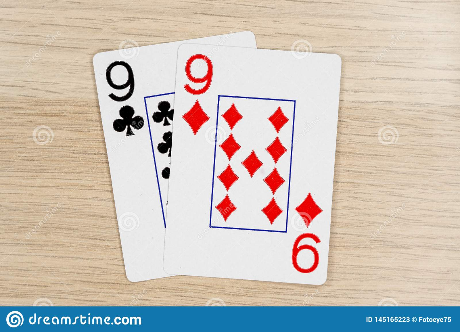 Pair Of Nines 9 Casino Playing Poker Cards Stock Image Image Of Winner Gamble 145165223