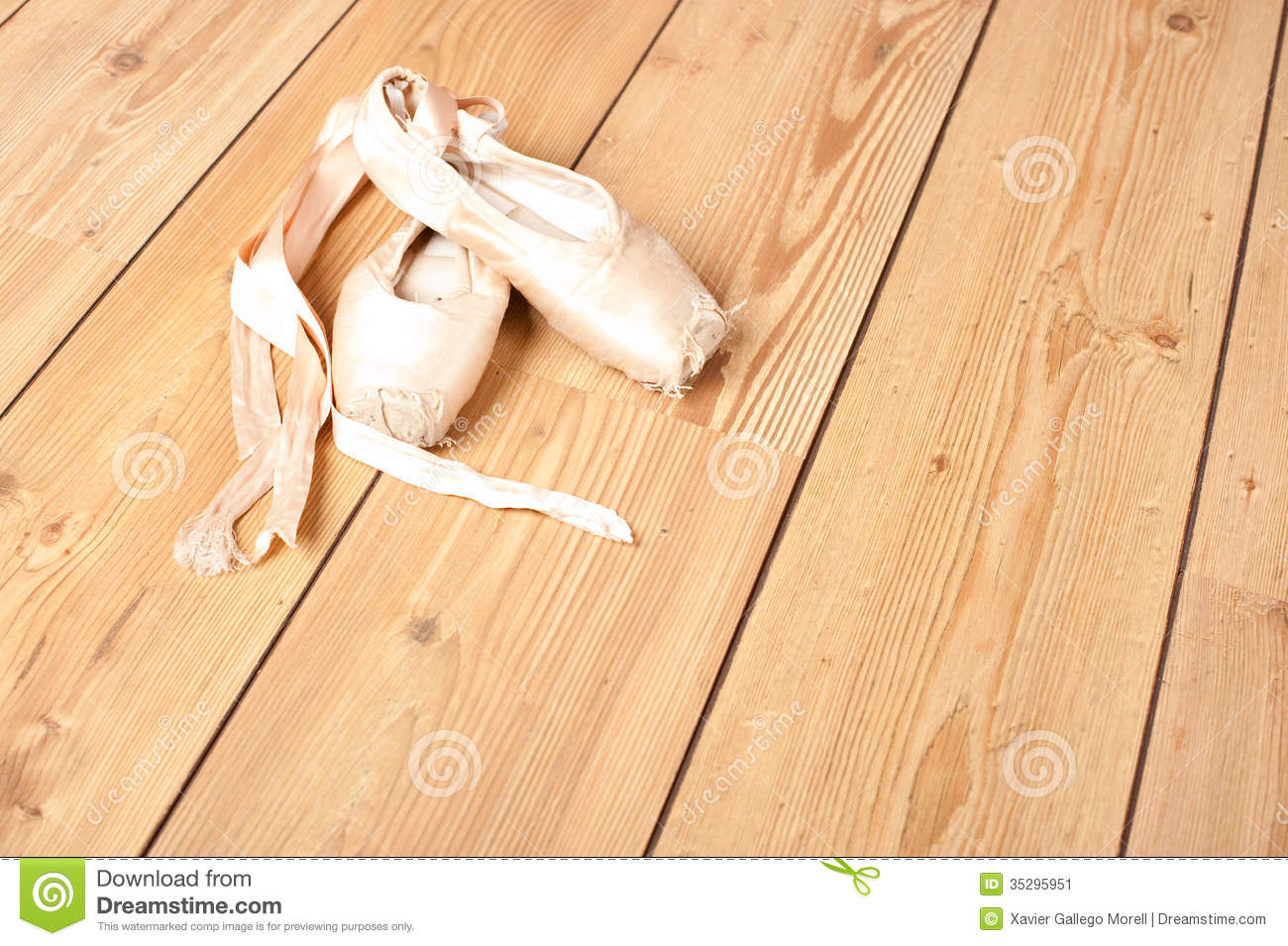 Pair of old ballet shoes stock image image of classical for What is floor