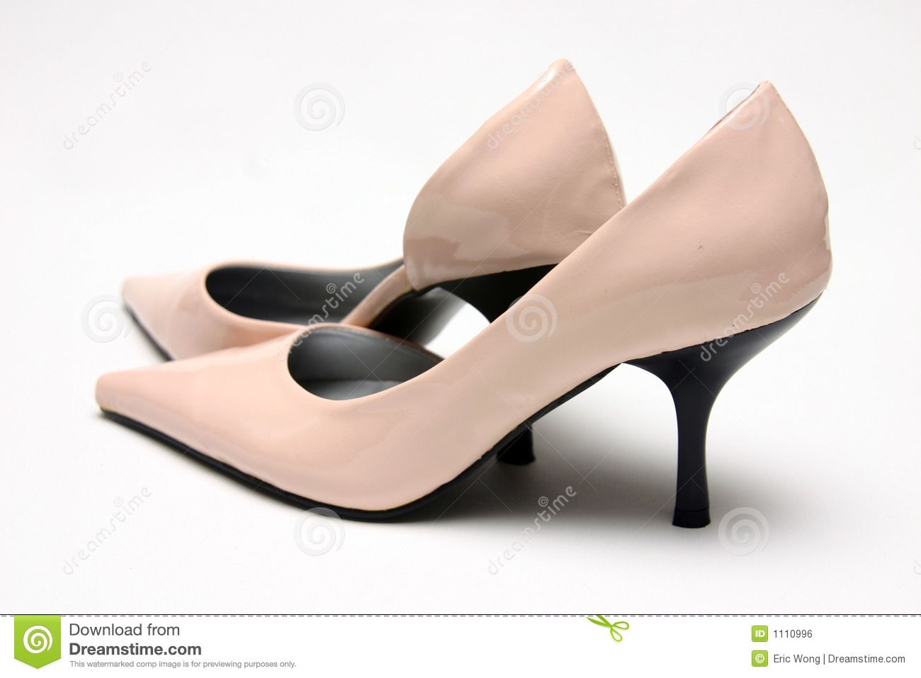 pair of pink high shoes royalty free stock image image
