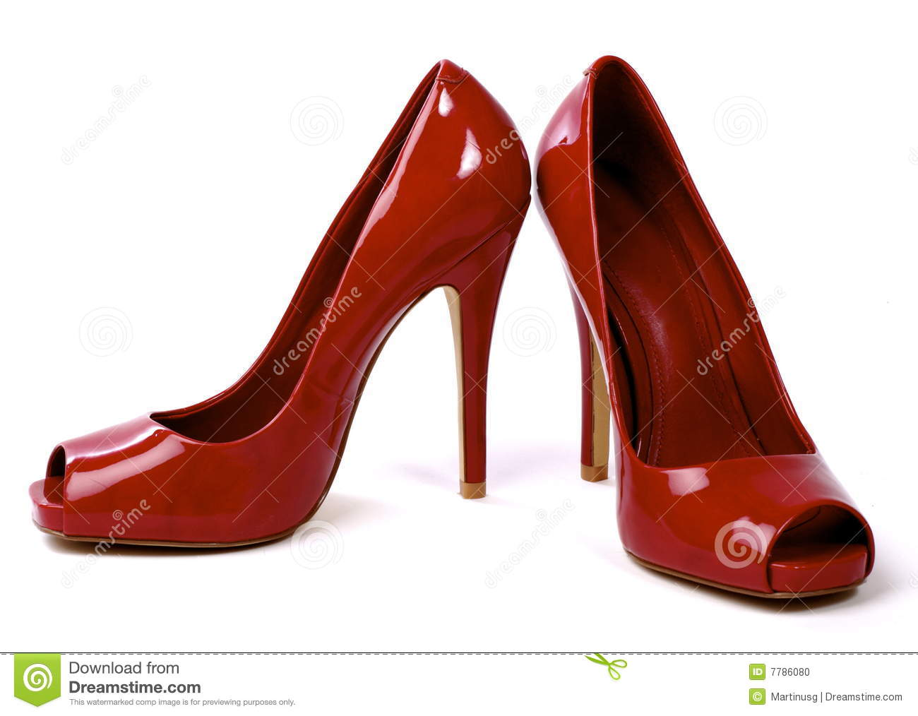 Pair Of Red Women's High-Heel Shoes 1 Stock Photo - Image: 7786080