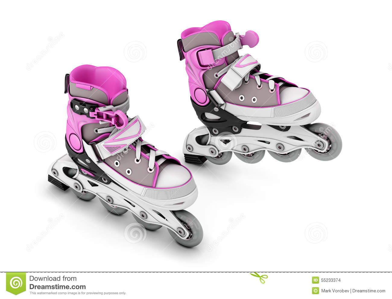 Pair Of Roller Skates Stock Photo Image 55233374
