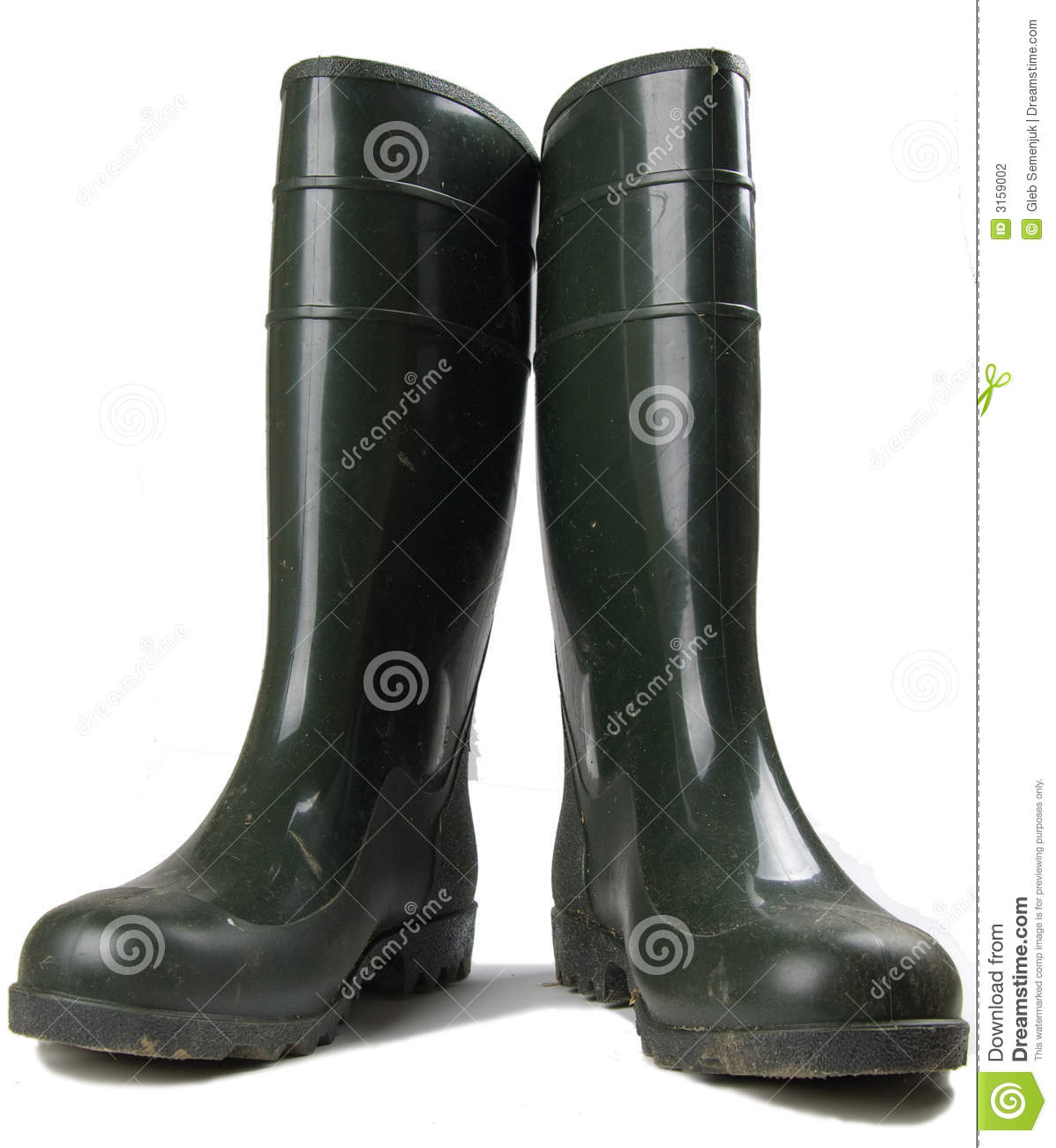 pair of rubber work boots stock photography image 3159002