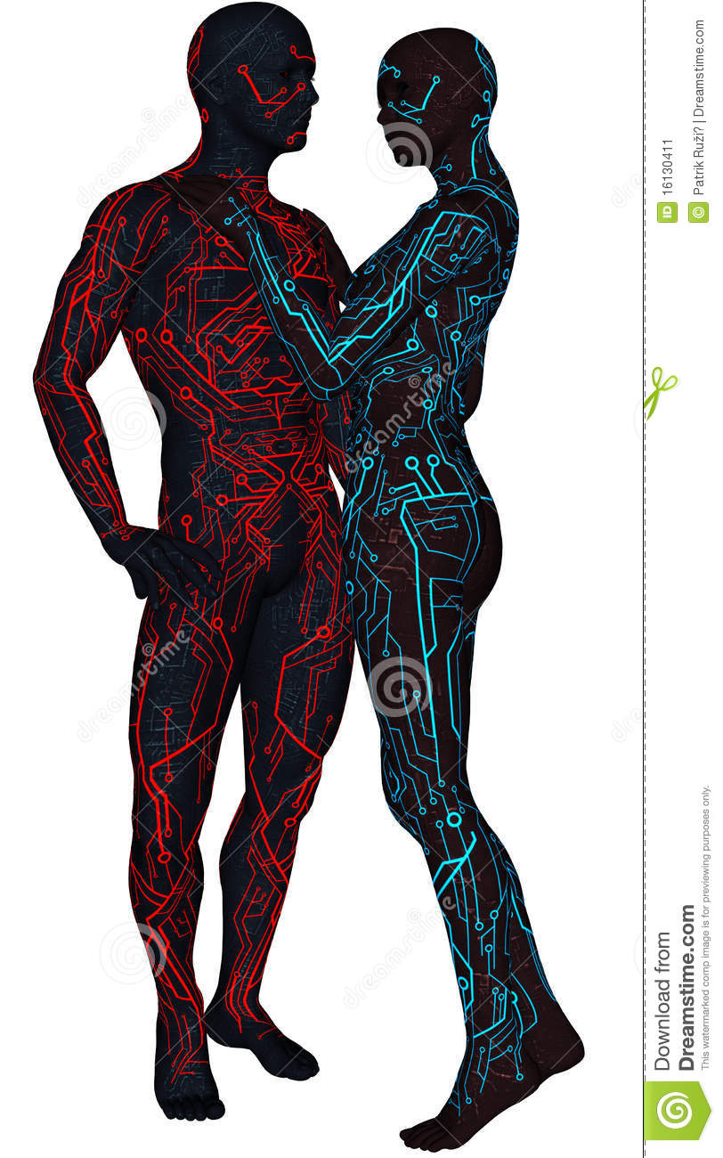 Sci Fi Android : Pair of sci fi android stock image