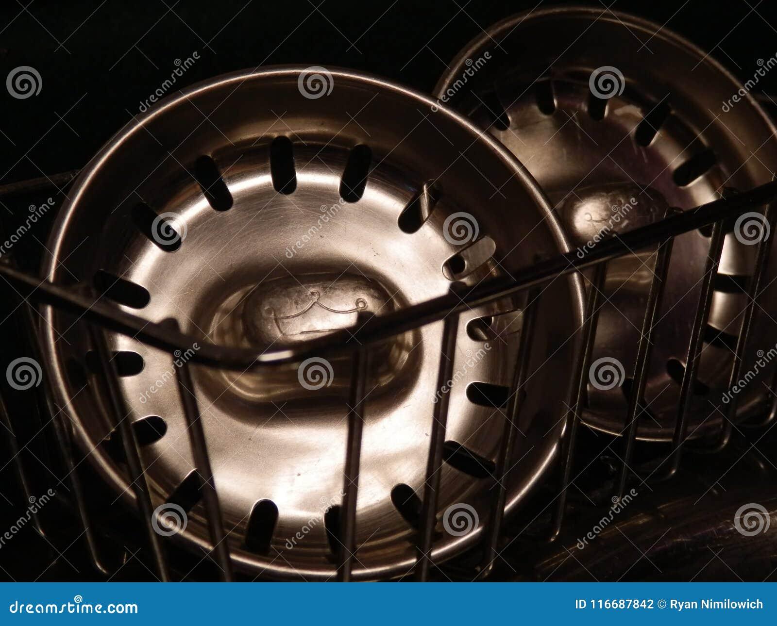 Kitchen Sink Plug stock photo. Image of pair, shiny - 116687842