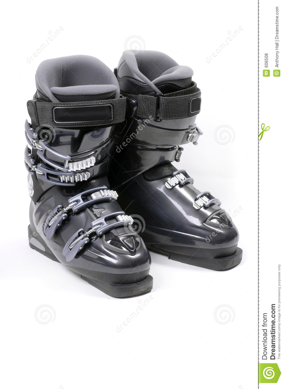 Pair Of Ski Boots Royalty Free Stock Photos Image 606508