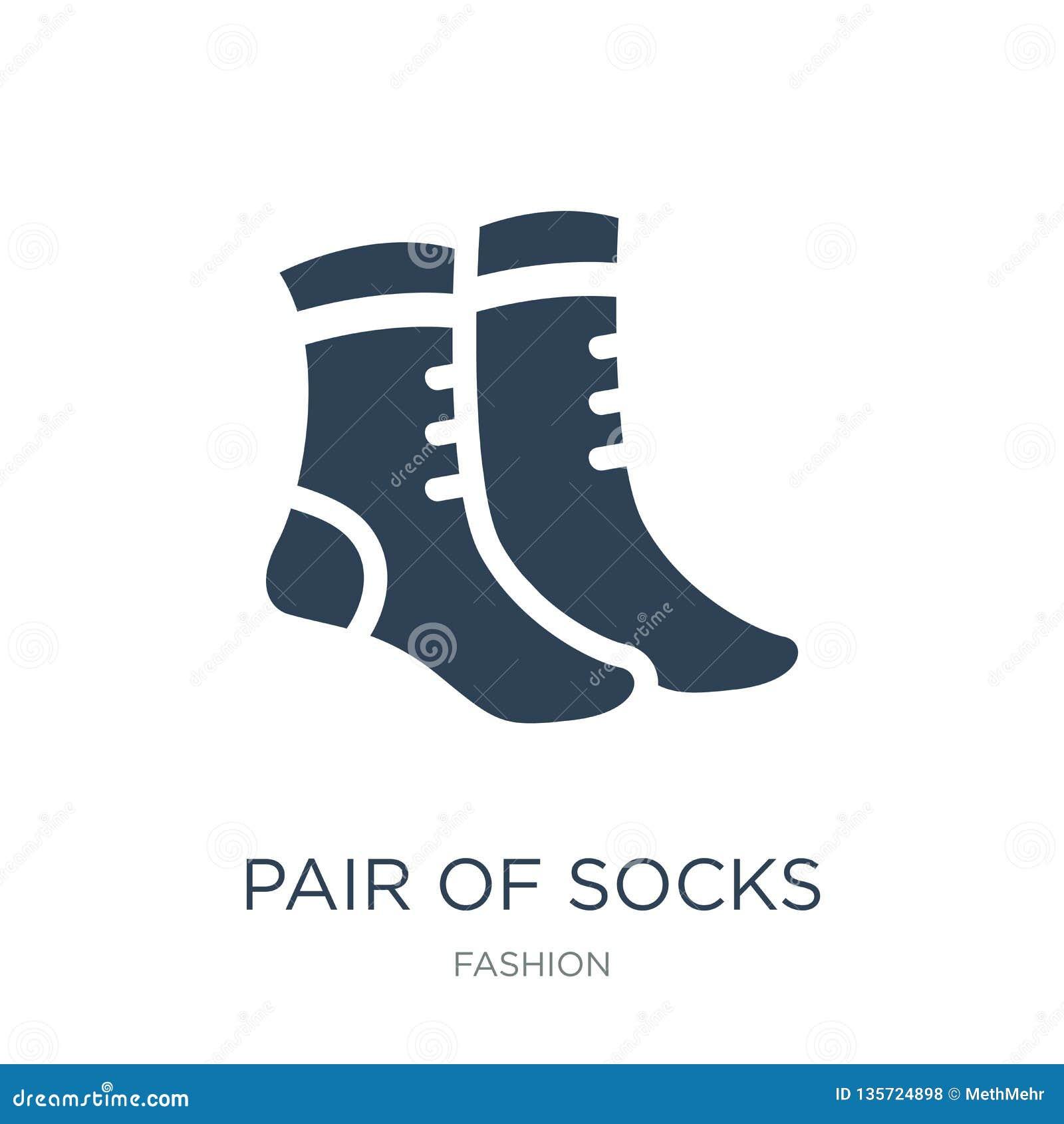 Pair Of Socks Icon In Trendy Design Style  Pair Of Socks