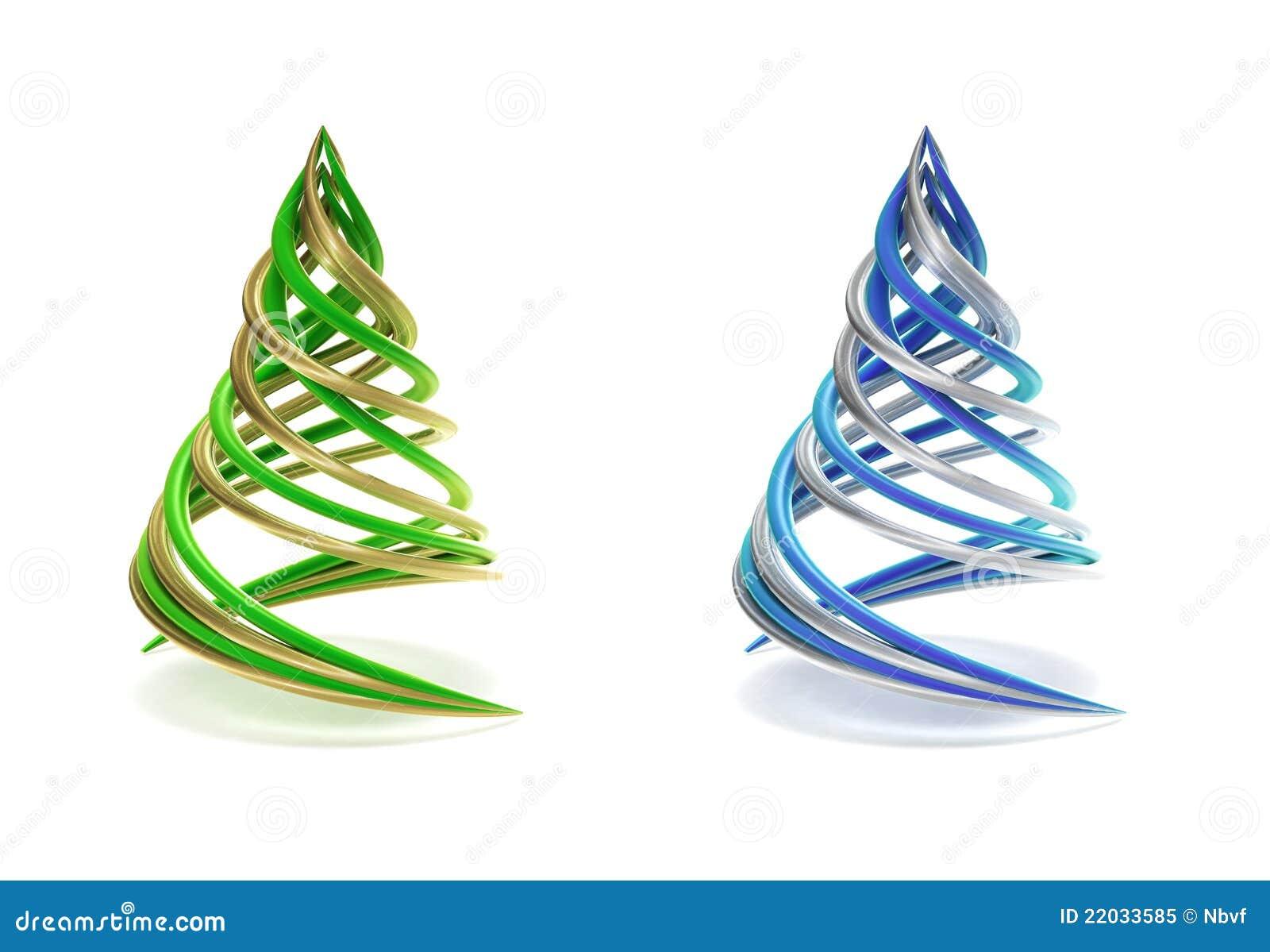 pair of symbolic and minimalist christmas tree stock. Black Bedroom Furniture Sets. Home Design Ideas